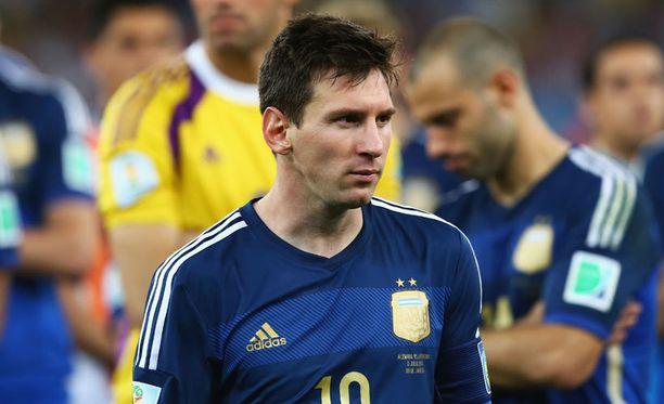MM-kisojen parhaaksi valittu Lionel Messi joutui pettymään.