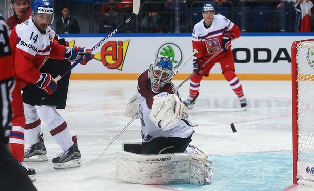 Latvian Edgars Masalskis pelasi maalillaan loisto-ottelun.