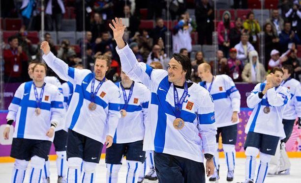 Teemu Selänteen A-maajoukkueura päättyi Sotshin olympiapronssiin.