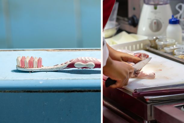 Naarmuinen leikkuulauta voi olla todellinen bakteeripesäke.