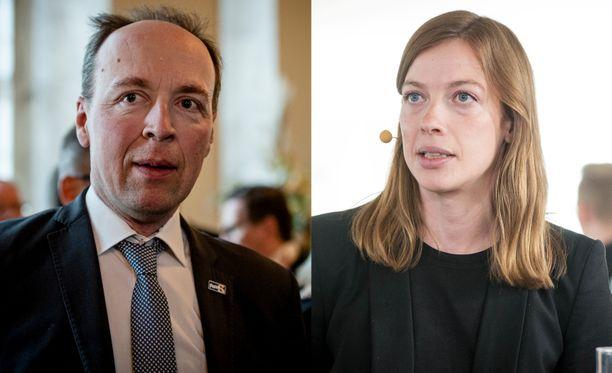 Jussi Halla-ahon ja Li Anderssonin käsitykset hyvästä ilmastopolitiikasta eivät kohtaa.