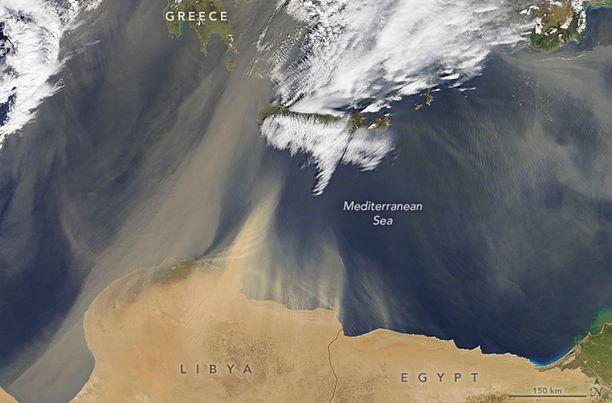 Tuuli on kuljettanut hiekkaa Saharasta itäisen Euroopan päälle poikkeuksellisen paljon.