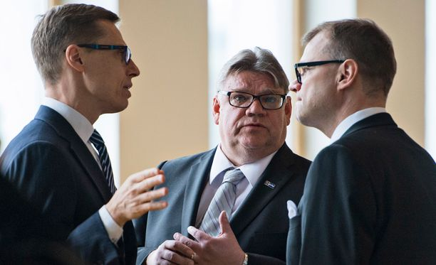 Alexander Stubb, Timo Soini ja Juha Sipilä neuvottelevat uudesta hallituksesta tällä viikolla.