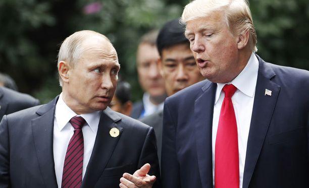 Venäjän presidentti Vladimir Putin ja Yhdysvaltain presidentti Donald Trump tapaavat Helsingissä 16. heinäkuuta.