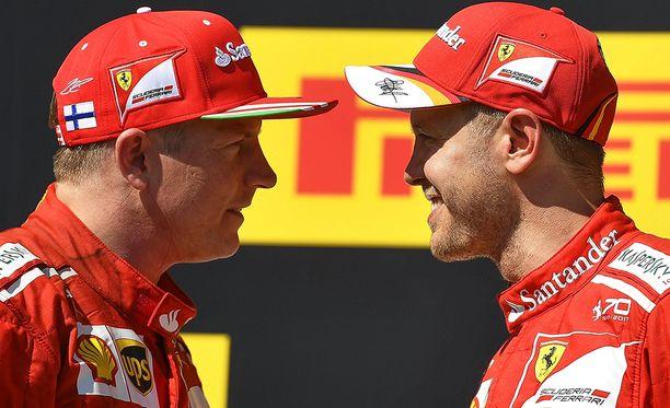 Kimi Räikkönen ja Sebastian Vettel tulevat hyvin toimeen keskenään.