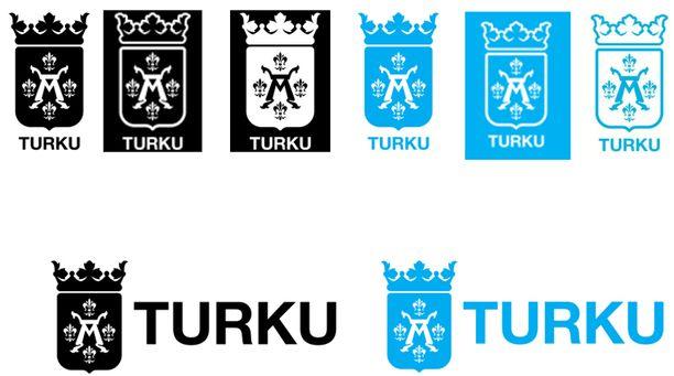 Tältä uusitut logot näyttävät. Kaupungin teettämään uuteen ilmeeseen kuuluu paljon muutakin.