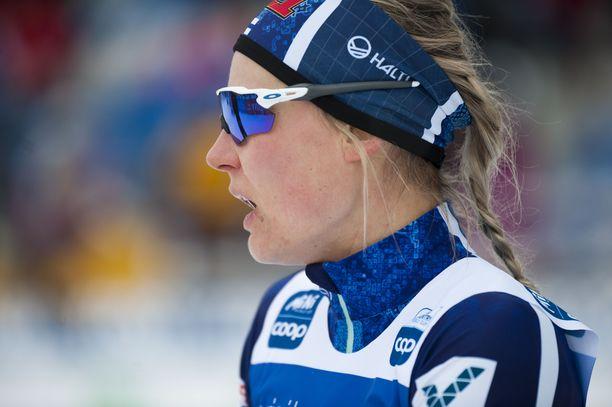 Anne Kyllönen oli väkevässä vedossa viikonloppuna Kainuussa. Arkistokuva.