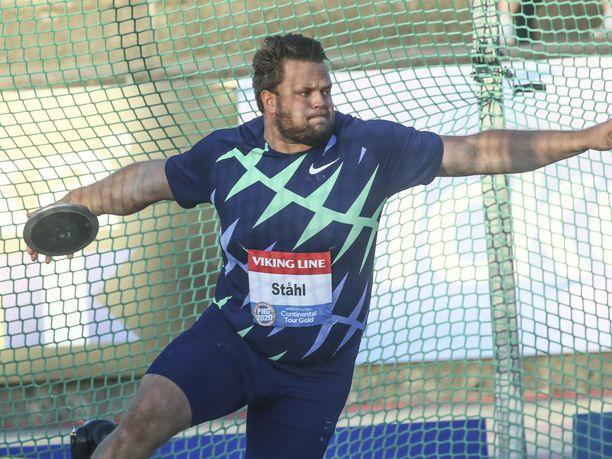Ruotsalainen Daniel Ståhl oli aiemmin viikolla Turussa kisaamassa Paavo Nurmi Gamesissa.