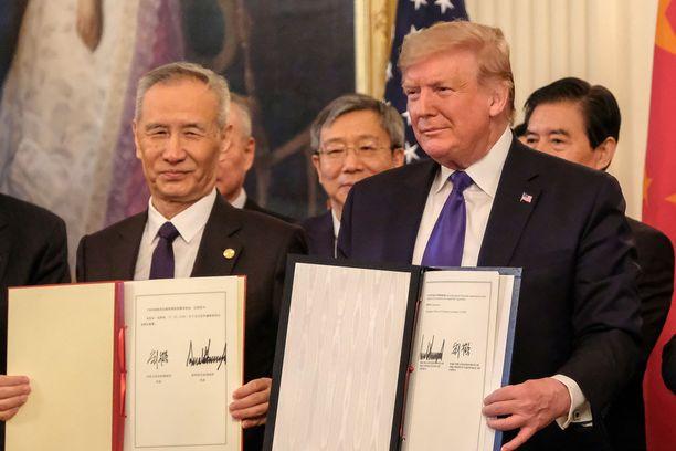 Kiinan ja USA:n kauppasopimuksen ensimmäistä vaihetta on kuvattu eräänlaiseksi välirauhaksi.