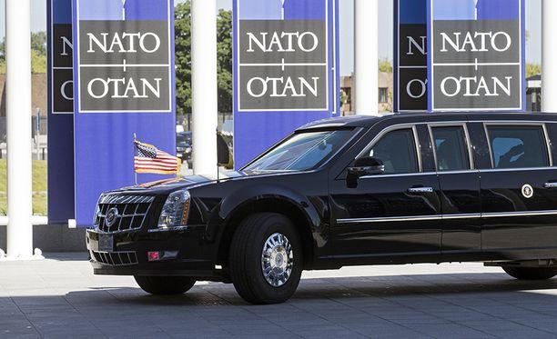 Donald Trump osallistui Nato-johtajien kokoukseen Brysselissä.