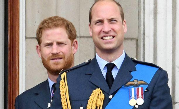Prinssi Harry, 33, ja prinssi William, 36, ovat läheisiä. Heidän isänsä on Walesin prinssi Charles ja heidän äitinsä edesmennyt prinsessa Diana.