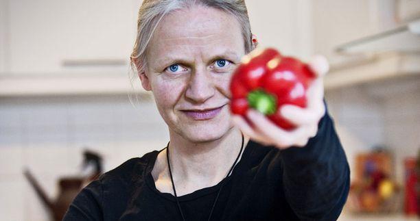 Hanna-Leena Ylinen siirtyi kasvissyöjäksi, kun perheen lapset olivat pieniä.