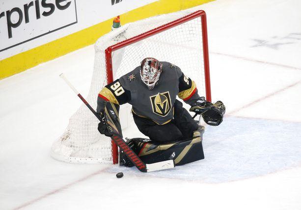 Robin Lehner torjuu tulevaisuudessakin kiekkoja Vegas Golden Knightsin riveissä.