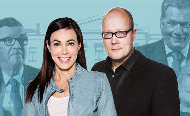 Susanne Päivärinta ja Juha Ristamäki vaativat vastauksia tiukkoihinkin kysymyksiin.