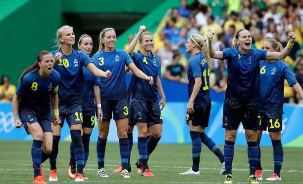 Ruotsi eteni naisten jalkapallon olympiafinaaliin, mutta suomalaiset tv-katsojat eivät sitä nähneet.