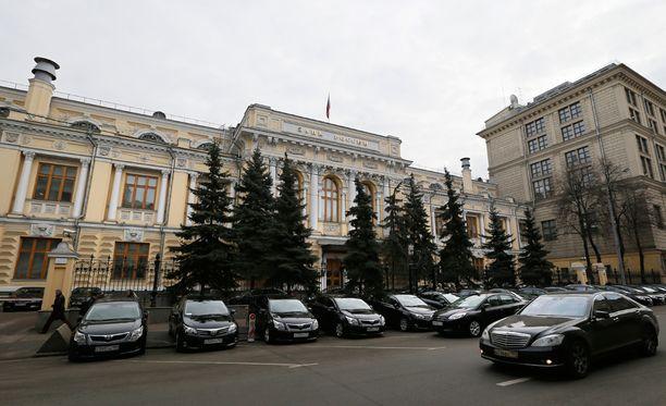 Venäjän keskuspankin pääkonttori sijaitsee Moskovassa.