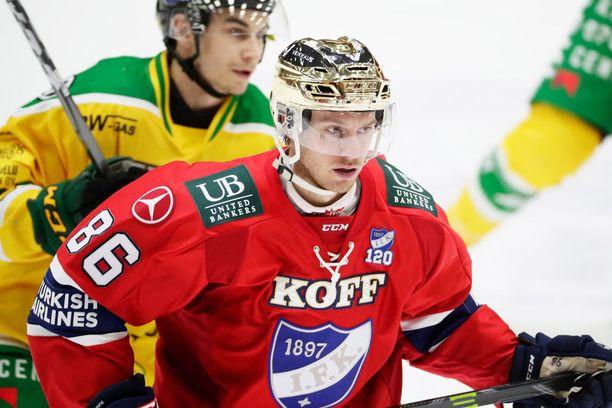 Erik Thorell on HIFK:n paras pistemies ja Liigan pörsissä yhdeksäs 45 ottelun tehoillaan 11+25=36.