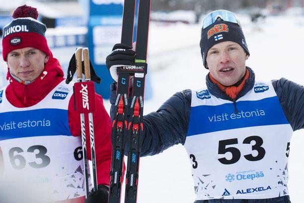 Kakkoseksi sunnuntaina tullutta Aleksandr Bolshunovia ei juuri hymyilyttänyt Virossa.