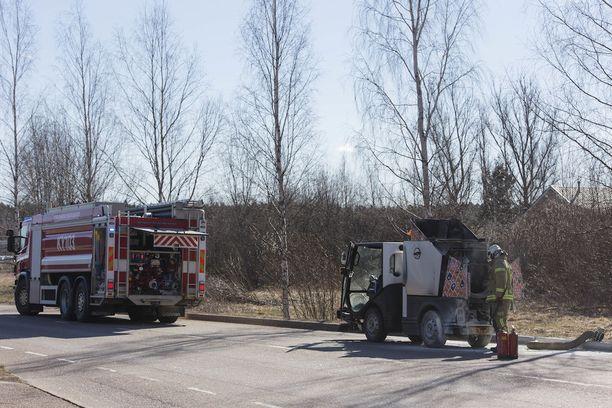 Kymenlaakson pelastuslaitos sai hälytyksen kello 9.14.