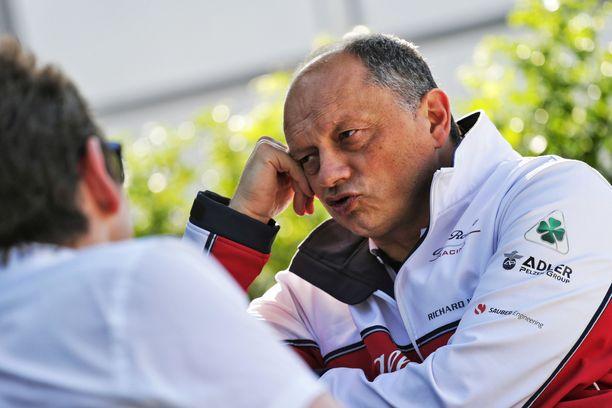 Alfa Romeon tallipäällikkö Frédéric Vasseur ei innostu lennokkaista arvioista, joiden mukaan hänen tallinsa voi olla yksi F1-kauden yllättäjistä.