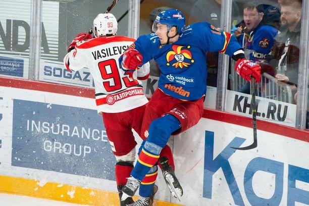 Marko Anttila ja Jokerit hävisivät Avtomobilistille 0-3.