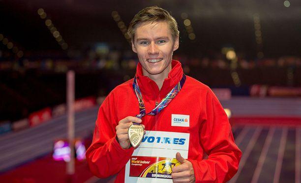 Pavel Maslak juhli MM-kultaansa vastahakoisesti.