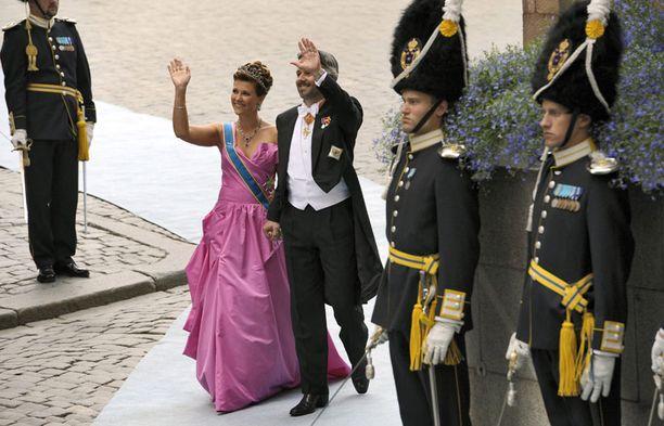 Norjan prinsessa Martha Louise puolisonsa Ari Behnin kanssa.