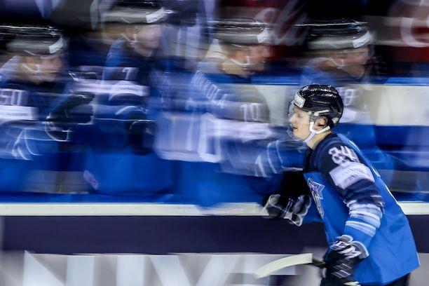 Kaapo Kakko on MM-kisoissa Leijonien ykköstykki.