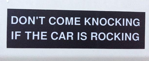 Jos auto heiluu, odota vuoroasi.