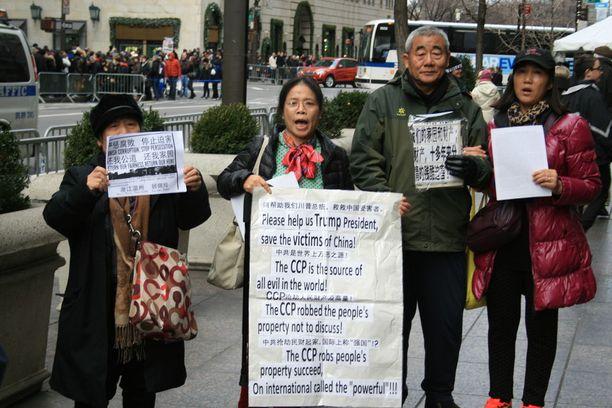 Kiinalainen mielenosoitus.