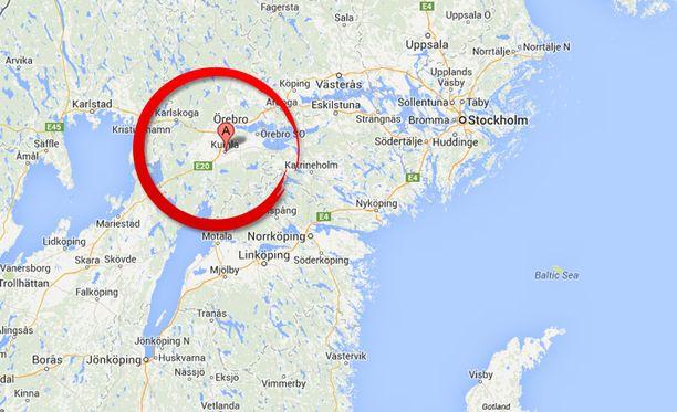 22-vuotiaan tytön ruumis löytyi Keski-Ruotsista Kumlan taajamasta.