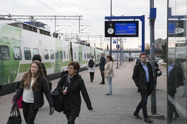 Kuvituskuva Tampereen rautatieasemalta.