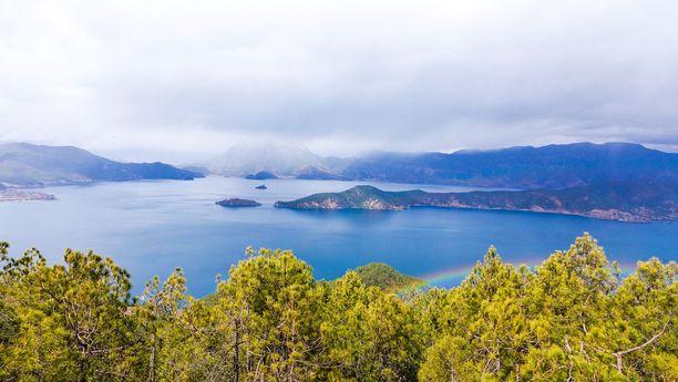 Maisema Etelä-Kiinan Yunnanista.
