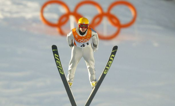 Toni Nieminen Salt Lake Cityn olympiakisoissa 2002.
