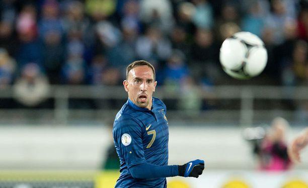 Franck Ribery on mukana Ranskan MM-joukkueessa selkävammasta huolimatta.