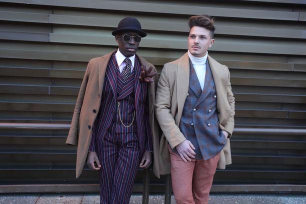Tähän tyyliin miehet pukeutuivat Pitti Uomo -muotiviikolla viime talvena!