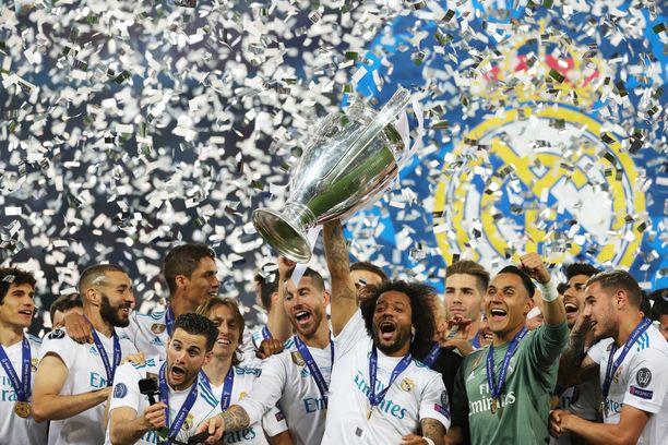Viime kauden päätteeksi Real Madridin brassitaituri Marcelo pääsi nostelemaan Mestarien liigan -voittokannua..