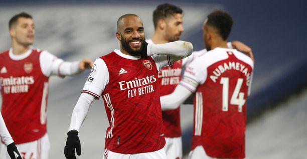 Arsenalin Alexandre Lacazette on paukuttanut kolmessa viimeisessä ottelussa neljä maalia.