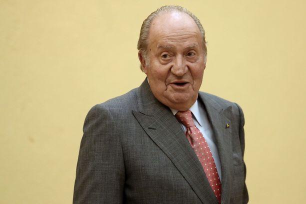 Espanjan entinen kuningas Juan Carlos kuvattuna vuonna 2017.