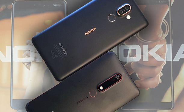 Yllä Nokia 7 Plus ja alla uusi Nokia 6.