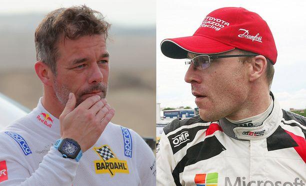 Sebastien Loeb ja Jari-Matti Latvala kamppailevat Monte Carlon MM-rallin kolmossijasta.