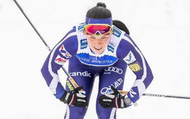 Krista Pärmäkoski voitti SM-kultaa 10 kilometrin kisassa.