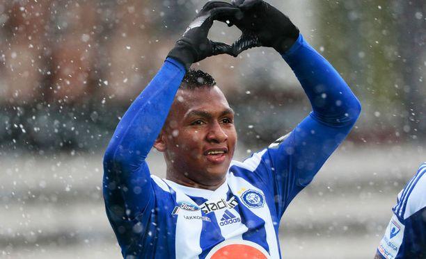 Alfredo Morelos iski alkukaudella 11 maalia HJK:ssa.