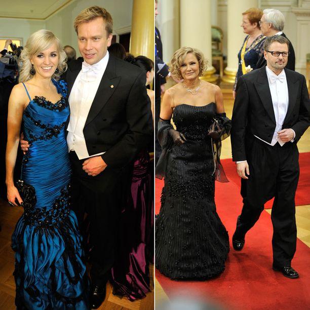 Toiseksi näyttävimmäksi pariksi Iltalehden lukijat valitsivat Satu Taiveahon ja Antti Kaikkosen. Kolmanneksi upein pari oli Eija-Riitta ja Atte Korhola.