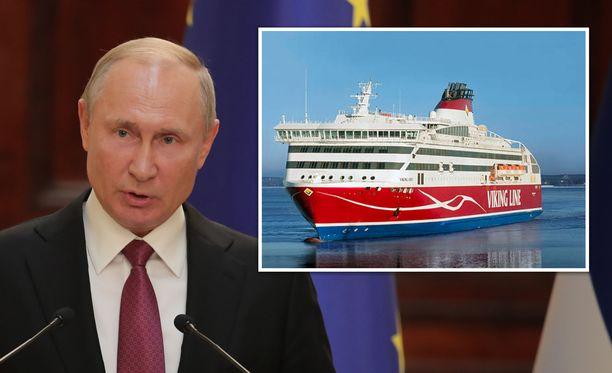 Viking XPRS myöhästyi aikataulustaan Putinin vierailun vuoksi.
