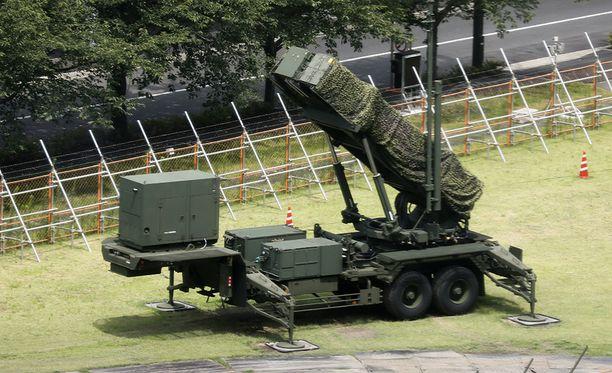 Patriot-ohjuspatteri on sijoitettu Tokion keskustaan mahdollisen Pohjois-Korean ohjusiskun varalle.