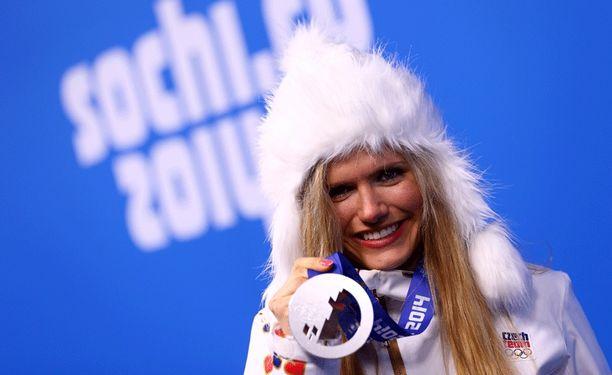 Gabriela Soukalova voitti kaksi hopeaa Sotshin olympiakisoissa.