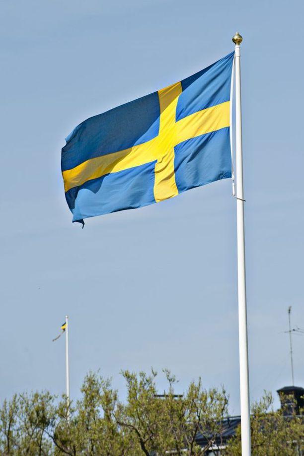 Ruotsin lippu. KUVA: JENNI GÄSTGIVAR/IL.