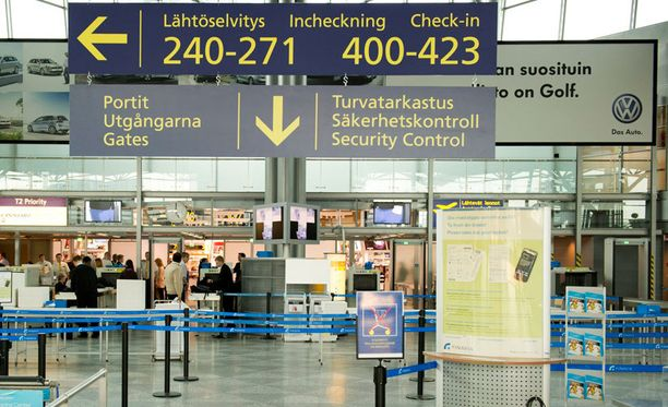 Vielä ei tiedetä, koskeeko turvatarkastusten kiristäminen Helsinki-Vantaata.