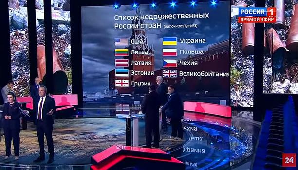 Putinin listaa esiteltiin Venäjän valtiontelevisiossa tiistaina.
